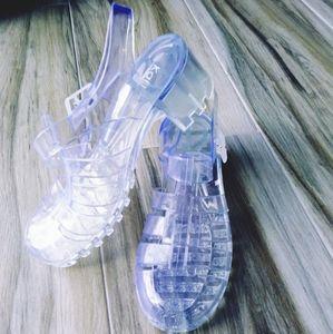NWOT Kali SZ 10 Clear Jelly Platform Sandals